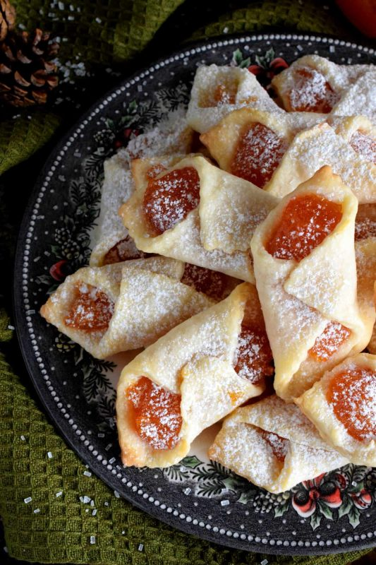 Traditional Hungarian Apricot Kolaches
