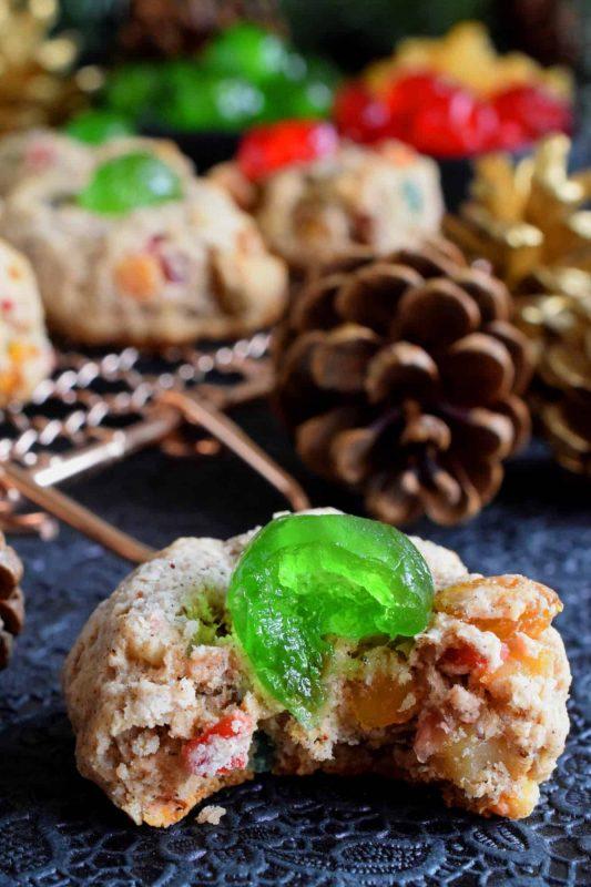 Christmas Fruitcake Cookies