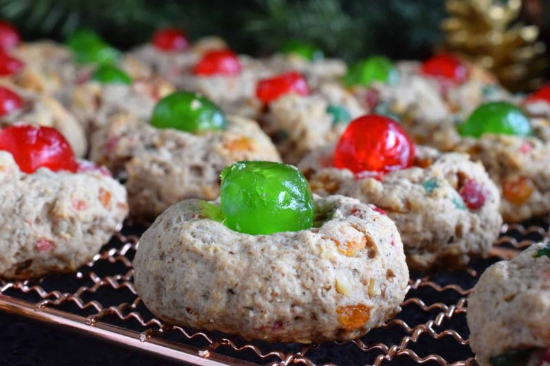 Christmas Fruitcake Cookies