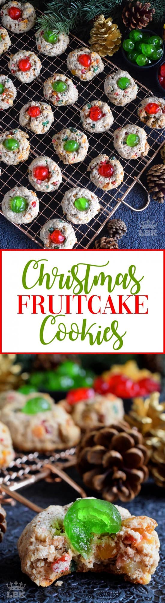 Christmas Fruitcake Cookies - These sugar-coated cookies are a great way to pack the flavour and texture of a Christmas fruitcake into a beautiful holiday cookie! #fruitcake #cookies #christmas #holiday #baking