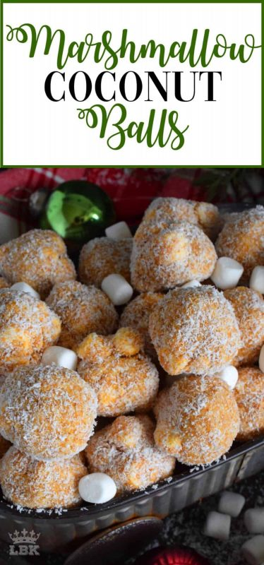 Marshmallow Coconut Balls - A nostalgic Newfoundland Christmastime confection, Marshmallow Coconut Balls are a no-bake cookie that will quickly become your new holiday favourite!#marshmallow #balls #christmas #holiday #nobake