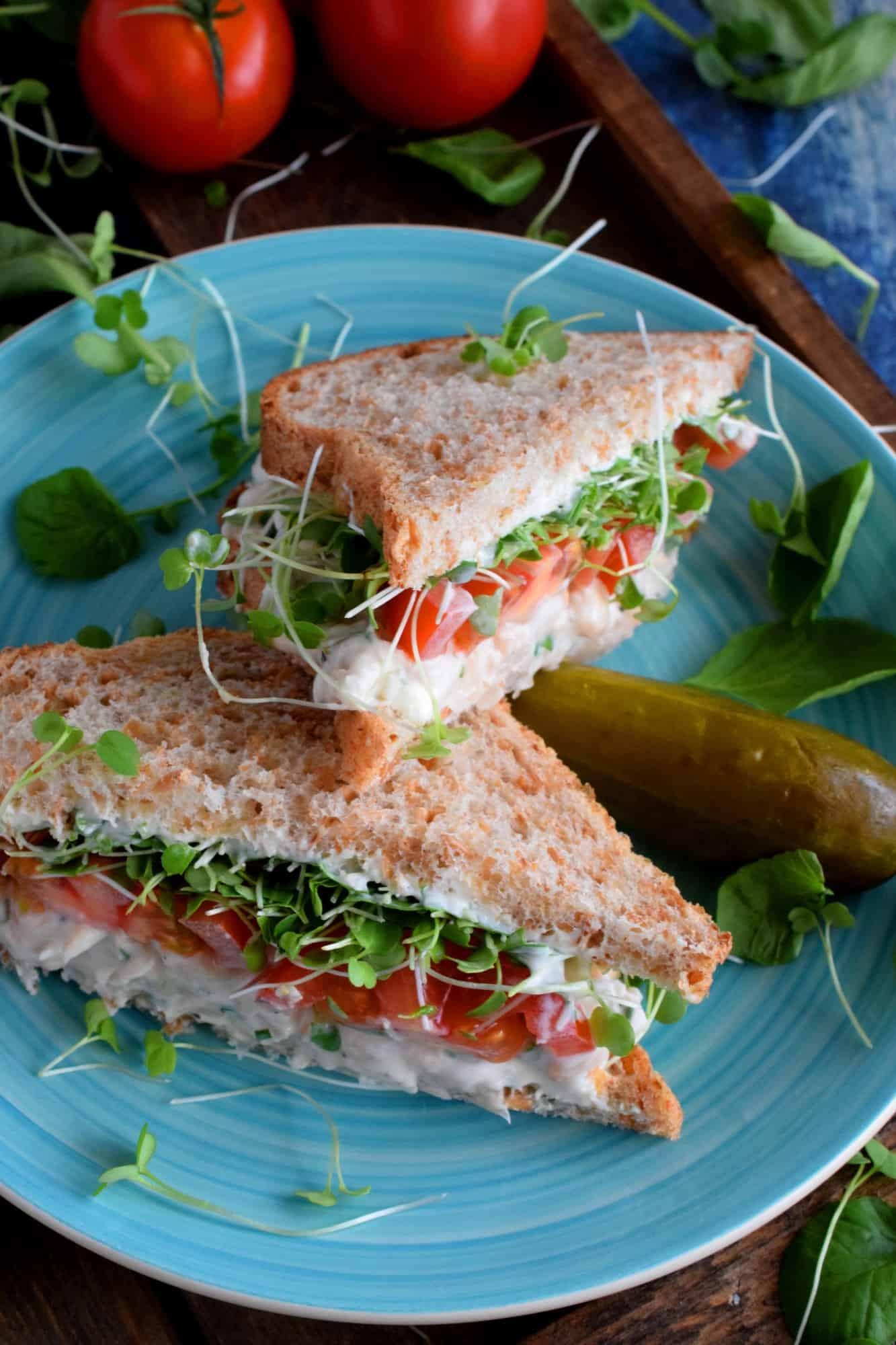 White Bean Salad Sandwiches