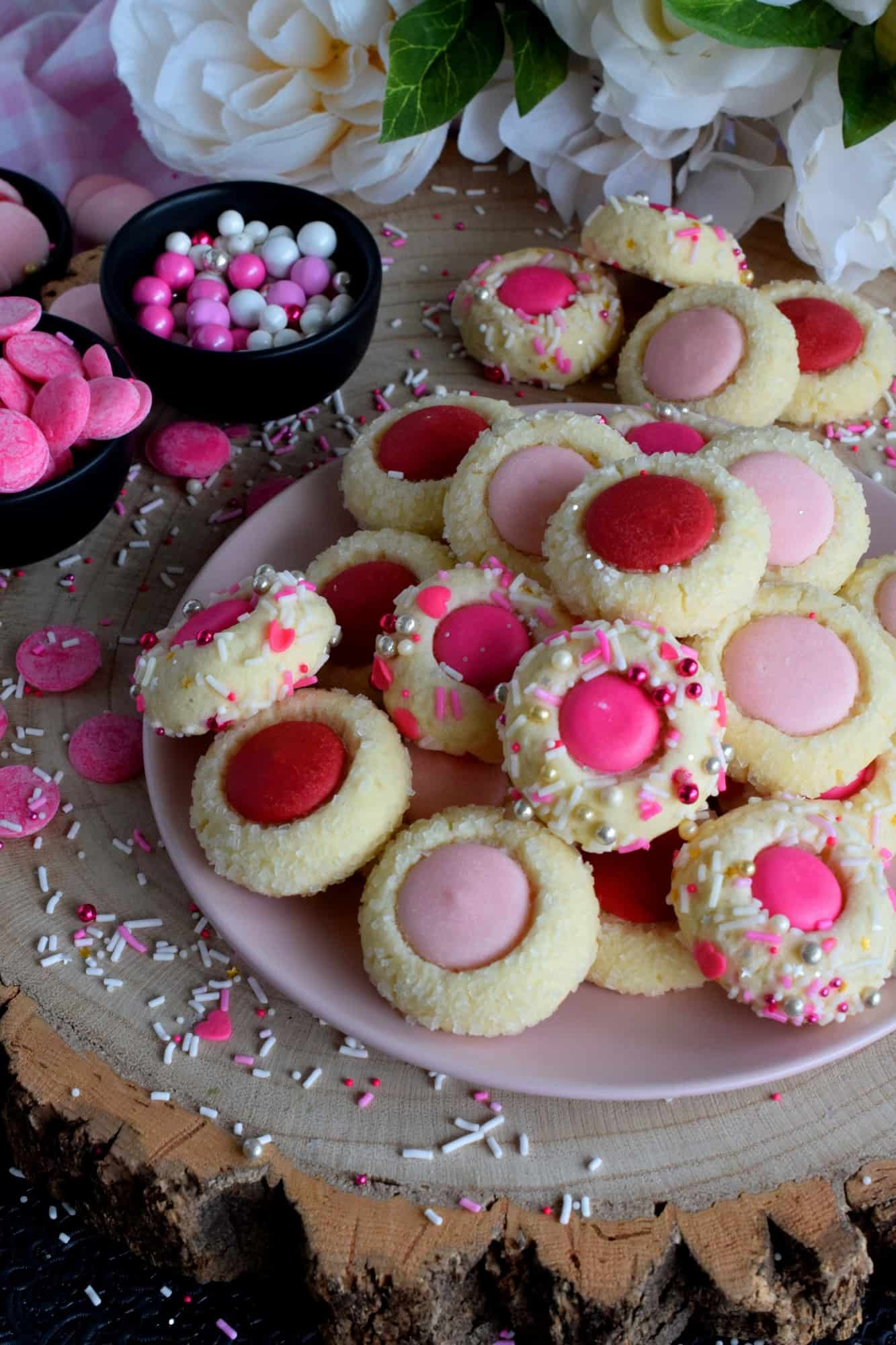 Valentine Candy Melt Cookies