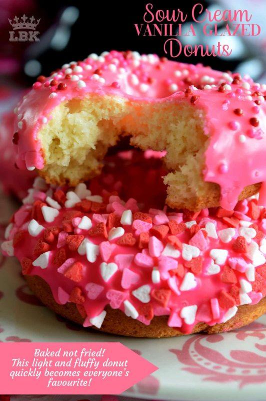Sour Cream Vanilla Glazed Donuts