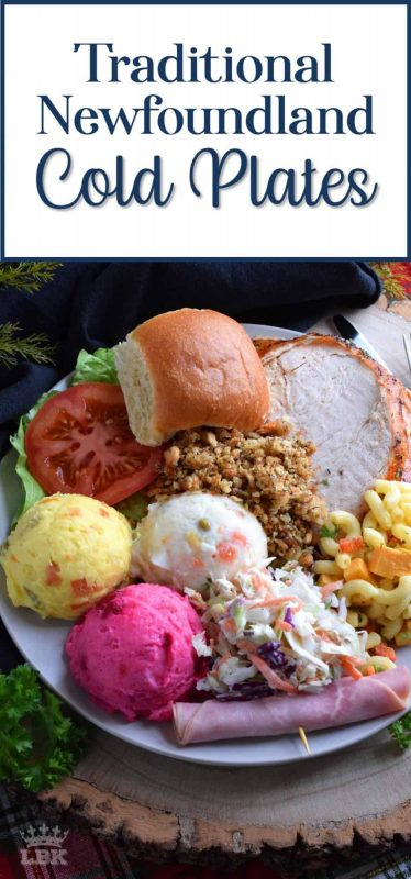 A hearty meal for a hard-working people, this plate depicts a very traditional Newfoundland Sunday night supper. It also happens to be my personal favourite!#newfoundland #recipes #cold #plates #traditional