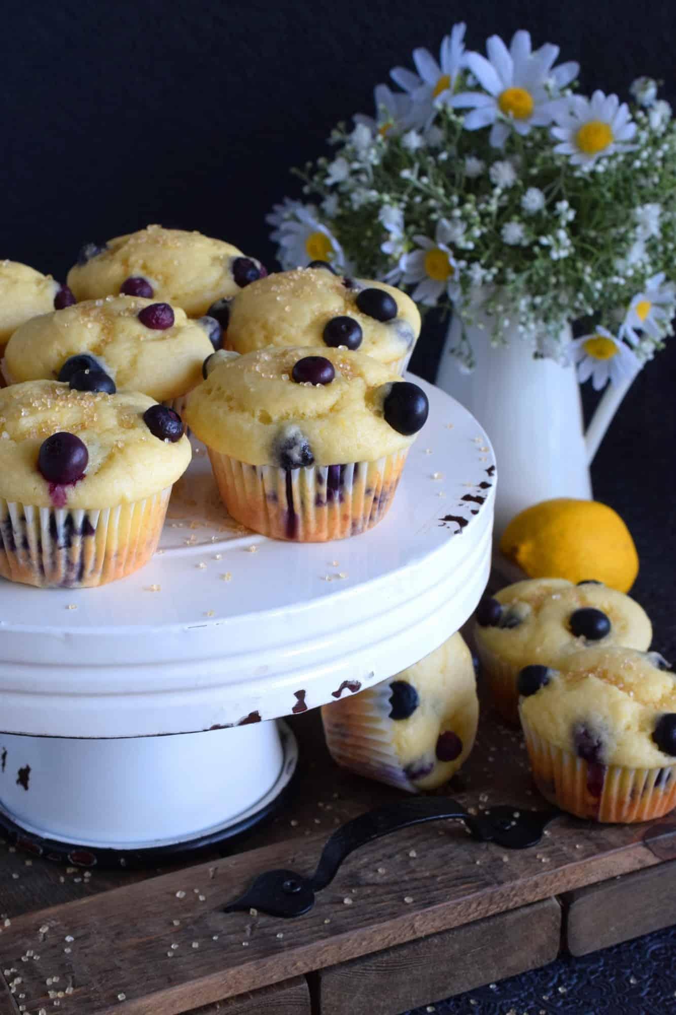 Blueberry Lemon Yogurt Muffins