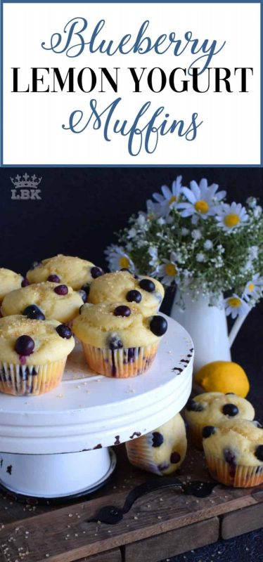 A pillow-soft and super moist blueberry-filled muffin made with yogurt and fresh lemon zest.  Breakfast never tasted so good!  This is a slow-down and enjoy kind of muffin!#blueberry #yogurt #muffins #lemon