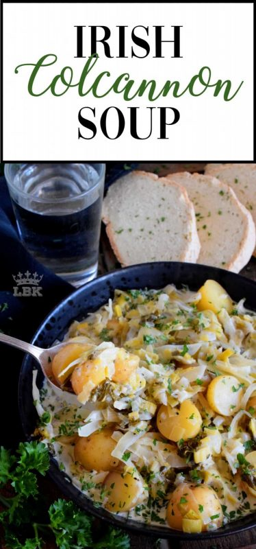 With St. Patrick's Day just around the corner, why not plan to prepare this Irish Colcannon Soup for dinner? It's a homemade, hearty, and healthy main!#irish #ireland #recipes #colcannon #green #stpatricksday