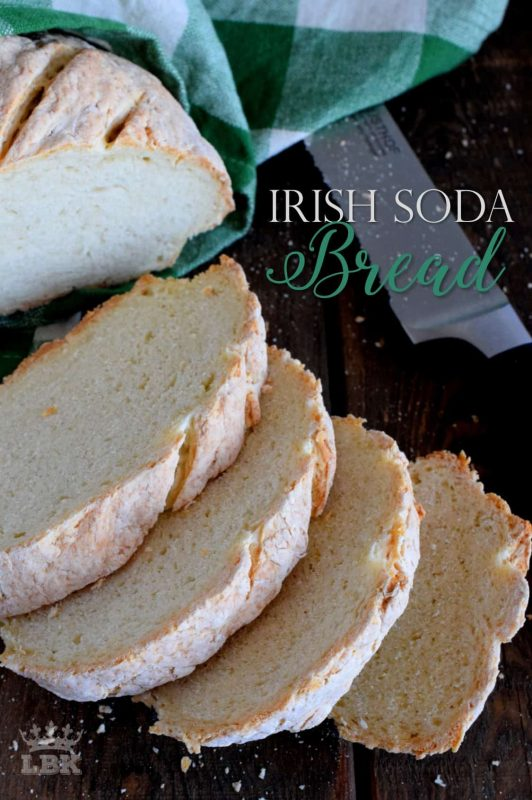 Made with a few simple ingredients, Irish Soda Bread is a great introduction to baking bread.  It's a rustic and dense bread that's paired perfectly with soup!#Irish #soda #bread #stpatricksday