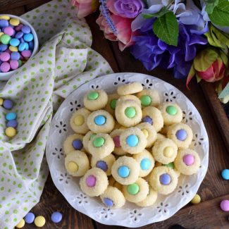 Easter Bunny Button Cookies