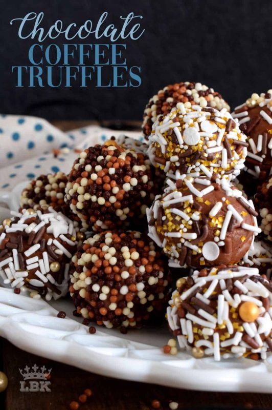 An easy to make dessert recipe, Coffee Chocolate Truffles are no-bake and uses very simple ingredients - including instant coffee or espresso granules!#chocolate #truffles #coffee #espresso #instant