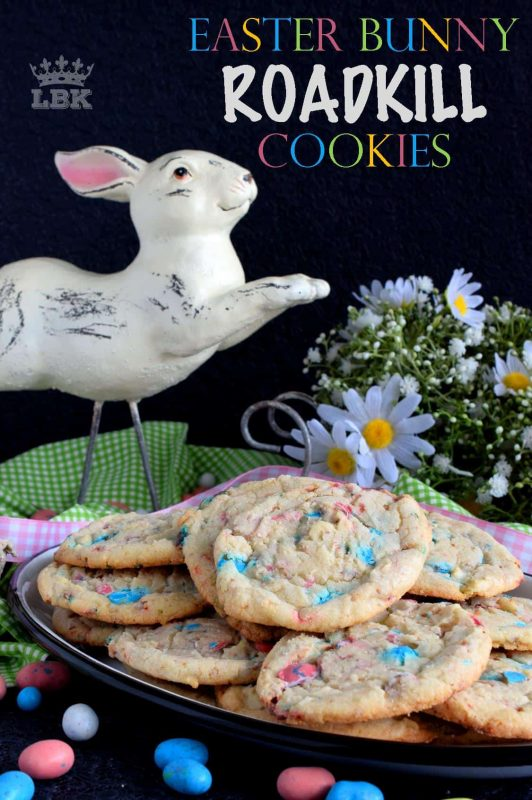 A chewy, malted chocolate egg cookie with crispy edges, this Easter Bunny Roadkill Cookie makes it look like the Easter Bunny has been run over by a truck!#Easter #Bunny #roadkill #cookie #malted #chocolate #balls