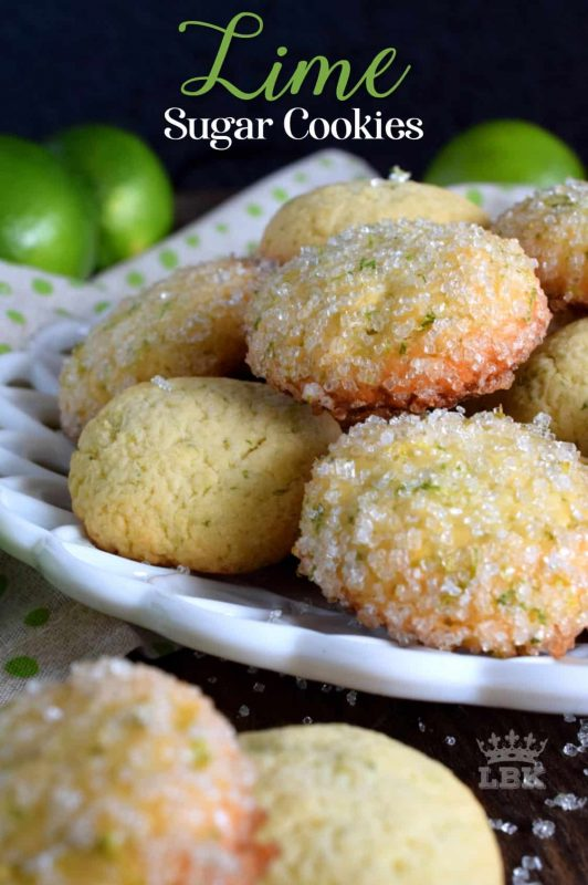 Deliciously tart Lime Sugar Cookies, made with real lime zest, and sweetened with sugar and a touch of honey, are the perfect afternoon tea time confection!#lime #zest #citrus #cookies #sugar #tart