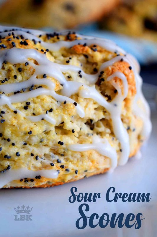 Light and fluffy, these Sour Cream Scones are just the thing for those warmer weather intimate brunches.  Brew some coffee and tea; company's coming!#scones #easy #personalize #sourcream #plain #noyeast