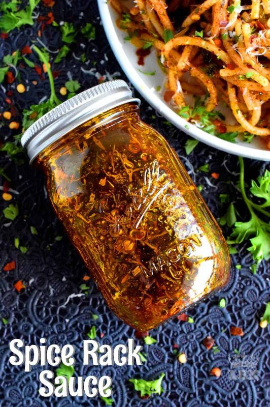A delicious and delightful all-purpose sauce made with olive oil and the herbs and spices found in everyone's spice rack!#sauce #vegetarian #spicerack #spices #herbs