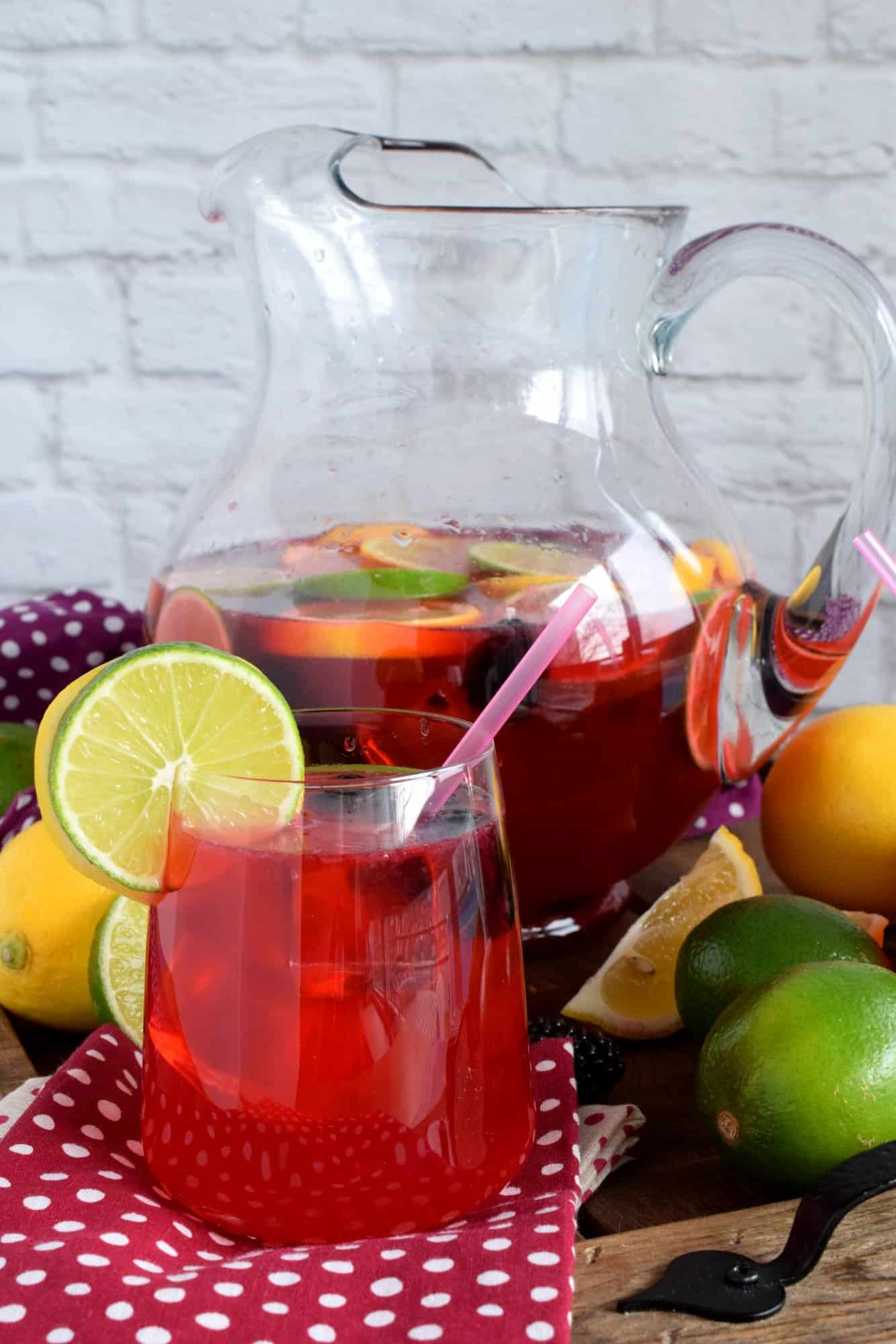Blackberry Lemon Lime Punch