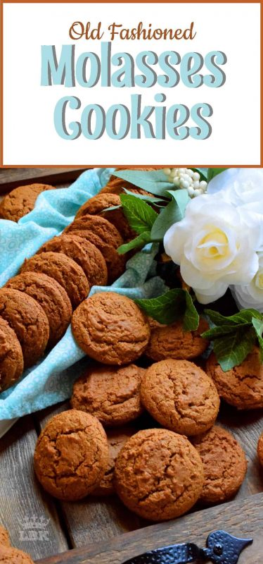 Old Fashioned Molasses Cookies are soft and moist; they are nostalgic and perfect for sharing, gift-giving, or just relaxing at home with an afternoon tea. #oldfashioned #molasses #cookies #grandma #soft #moist #chewy