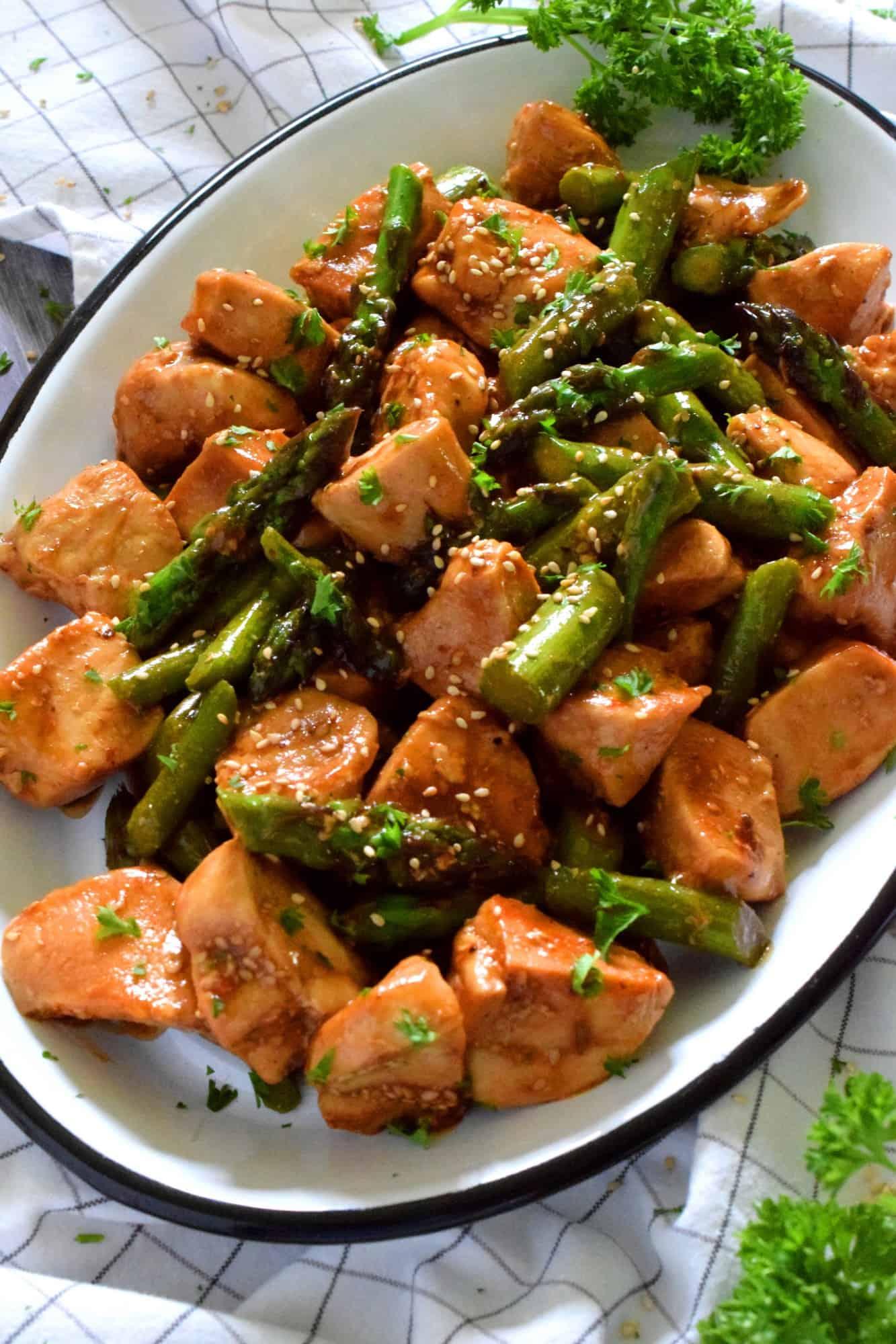 Chicken And Asparagus Teriyaki