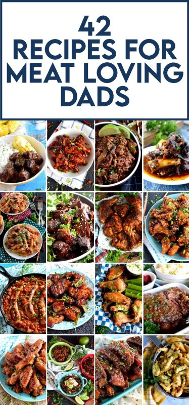 A collection of 42 Father's Day Recipes for Meat Loving Dads from Lord Byron's Kitchen! Scroll through for some wonderful recipe ideas to celebrate your day!