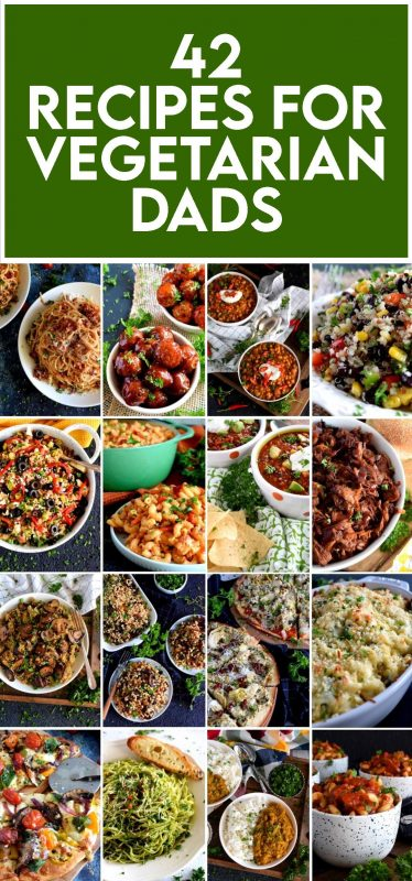 A collection of 42 Father's Day Recipes for Vegetarian Dads from Lord Byron's Kitchen! Scroll through for some wonderful recipe ideas to celebrate your day!