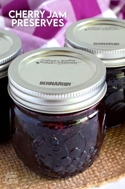 Easy to prepare cherry jam; all you need is cherries, sugar, and lemon juice! Oh, and patience - like in all good things! #cherry #jam #recipe #preserves #rainer #bing #cherries