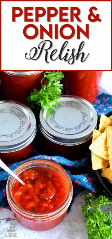 A very precise and accurate copycat version of Harry & David's popular relish, Pepper and Onion Relish is a condiment you'll use over and over again, making it so worth the effort!#relish #copycat #canning #preserves #waterbath #harry&david