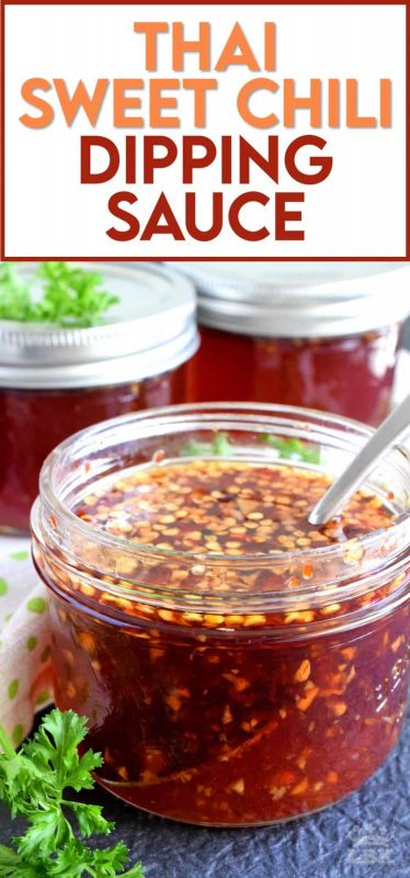 You'll find a thousand ways to use this Thai Sweet Chili Dipping Sauce! It's a little spicy, a little sweet, and a little acidic - it makes a great gift too! #Thai #sauce #spicy #sweet #preserve #canned