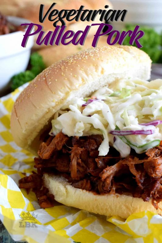 Pulled Pork can now be enjoyed by everyone!  Vegetarian Pulled Pork is about as close to the real thing as you're ever going to get!  And, it's faster and easier too! #vegetarian #pulledpork #pork #jackfruit