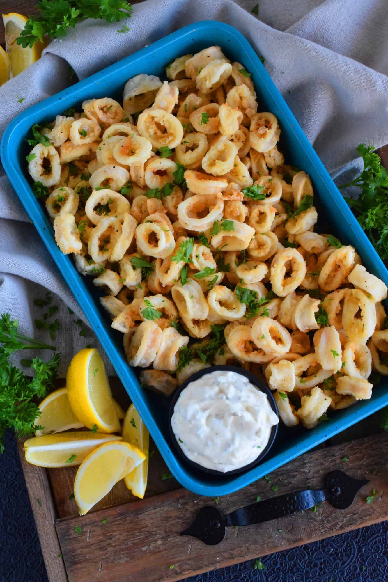 Old Bay Fried Calamari