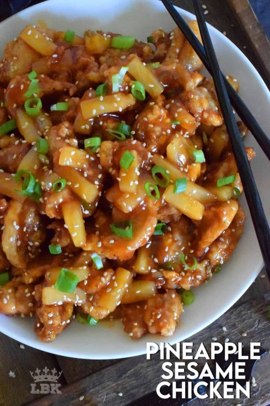 Pineapple Sesame Chicken Lord Byron S Kitchen