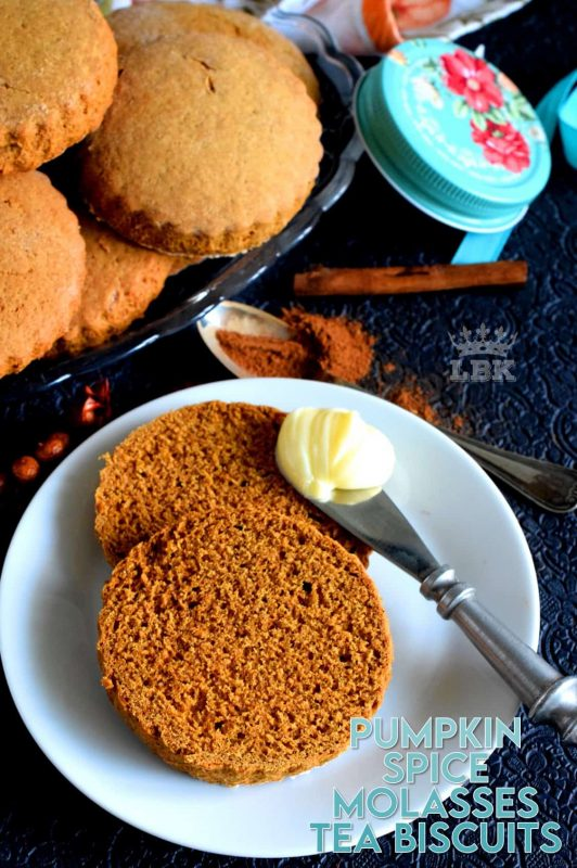 Warm, comforting, aromatic, and delicious – Pumpkin Spice Molasses Tea Biscuits are rustic in presentation and are the definition of home style, old-fashioned baking. #pumpkinspice #molasses #teabiscuit #biscuit #spice #pumpkin