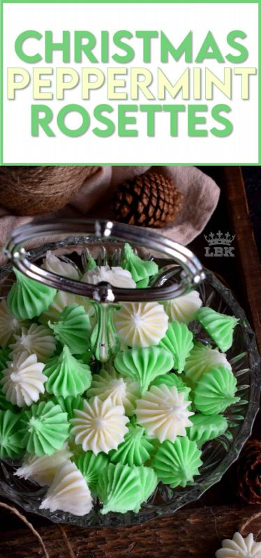 Friends and neighbours would love a package of homemade Christmas Peppermint Rosettes; these make a lovely take-home goodie bag too! #homemade #peppermint #mints #christmas #holiday #candy