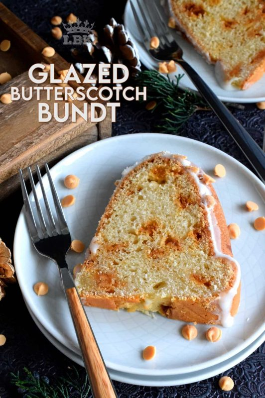 Butterscotch is sweet and indulgent, but it's Christmastime and calories don't count, so live it up with this Glazed Butterscotch Chip Bundt Cake! #bundt #cake #bundtbakers #butterscotch #baking #Christmas #holiday