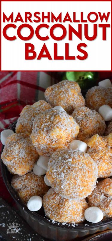 A nostalgic Newfoundland Christmastime confection, Marshmallow Coconut Balls are a no-bake cookie that will quickly become your new holiday favourite! #marshmallow #balls #christmas #holiday #nobake