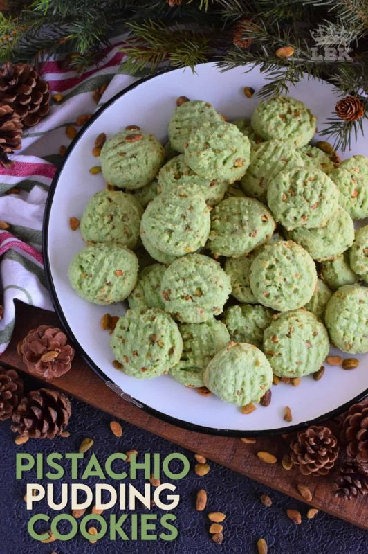 Light and fluffy, soft and moist, Pistachio Pudding Cookies are a cookie-lover's dream; and they're green too so they're perfect for the holidays! #pistachio #pudding #cookies #christmas #holiday #baking #green
