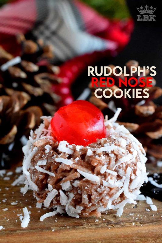 Santa Claus is coming to town and he's going to need Rudolph's Red Nose to guide his sleigh! Welcome to the 24 Cookies of Christmas countdown! #rudolph #reindeer #cookies #christmas #holiday #baking #advent #countdown