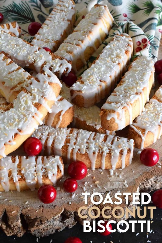 Whenever you take a minute to toast coconut, something magical happens. Case in point, these Toasted Coconut Biscotti; they're incredibly extraordinary! #biscotti #toasted #coconut #cookies #christmas #holiday #baking