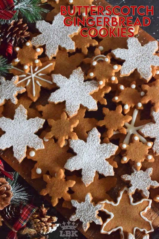 Everyone loves gingerbread. And, everyone loves butterscotch. So, why not combine the two flavours into a beautifully delicious Butterscotch Gingerbread Cookie? #gingerbread #butterscotch #christmas #holiday #baking #cookies