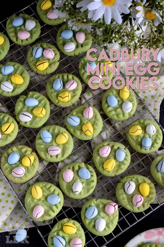 As if Cadbury Mini Eggs weren't addictive enough on their own, this recipe pairs them with a light and fluffy cookie base, and the result is a perfectly beautiful Easter treat! #cadbury #minieggs #easter #easterchocolate #cadburyminieggs #eastercookies