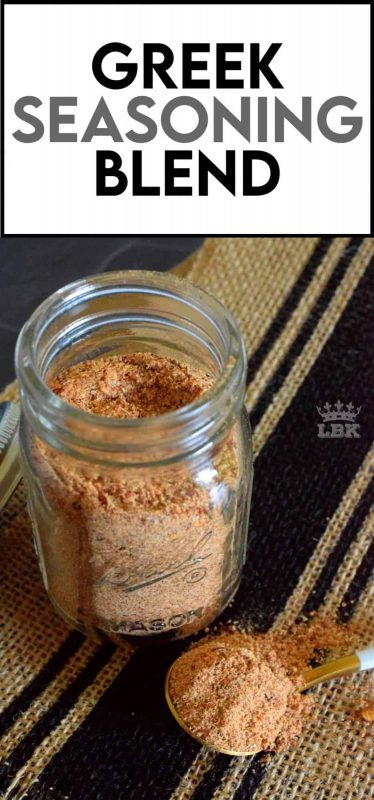 Once you take a few minutes to mix together your own homemade Greek Seasoning Blend, you open the door to endless recipe possibilities!  Prepared with what most of us have in our spice racks already, this blend will keep in your pantry for months! #Greek #spiceblend #seasoning #homemadespices #spicerack #spices