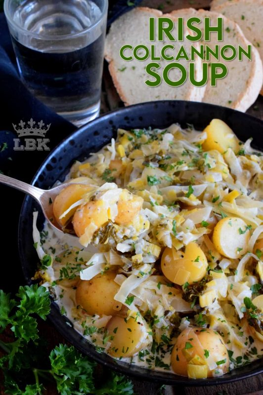With St. Patrick's Day just around the corner, why not plan to prepare this Irish Colcannon Soup for dinner? It's a homemade, hearty, and healthy main! #irish #ireland #recipes #colcannon #green #stpatricksday