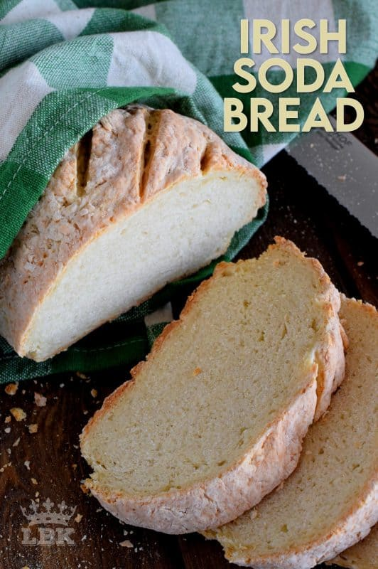 Made with a few simple ingredients, Irish Soda Bread is a great introduction to baking bread. It's a rustic and dense bread that's paired perfectly with soup! #Irish #soda #bread #stpatricksday