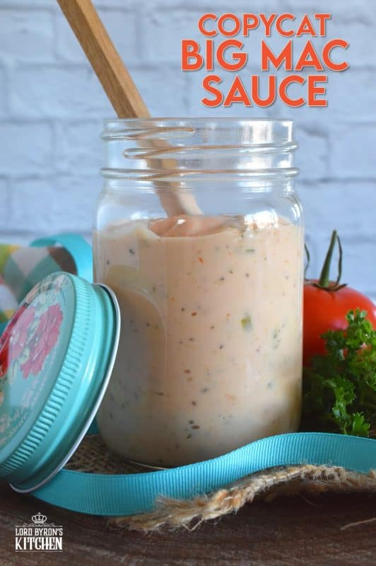 There are many Copycat Big Mac Sauce recipes out there, but this one is the best! It's so easy to make, and has a zingy flavour, and it's super creamy. We use it on burgers, as a dip for fries, and also on pizza! #bigmac #copycat #copycatrecipes #mcdonalds #sauce #bigmacsauce