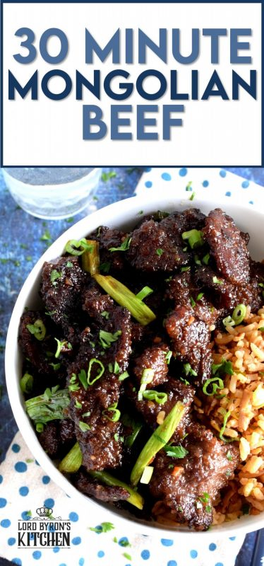 Garlicky, gingery, crispy, sweet, salty, and oh, so tasty!  These words only partially describe 30 Minute Mongolian Beef. When it comes to a quick family dinner, this one has winner written all over it! #30minutemeals #beef #mongolian #mongolianbeef