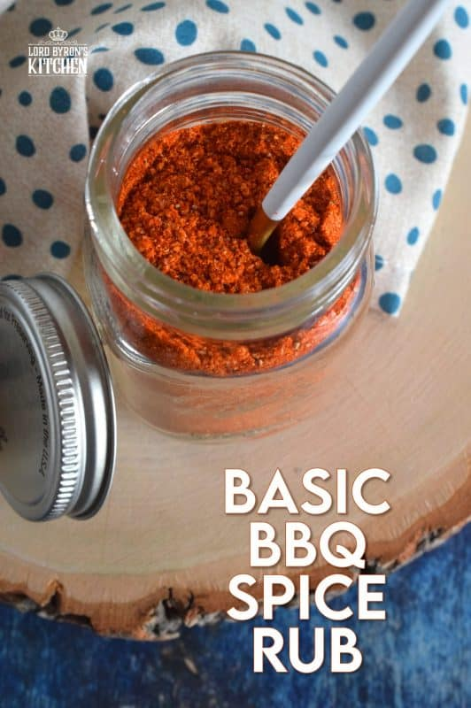 A good Basic BBQ Spice Rub should be in every cook's pantry. Use it liberally on pork, chicken, or beef for a bold, smoky, sweet, and spicy flavour. Perfect for grilling, frying, and roasting! #bbq #spicerub #dryrub #homemade #seasoning