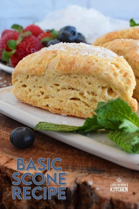 Scones are everyone's favourite, and with this Basic Scone Recipe, you can customize to your own tastes and preferences.  Add chocolate chips, almonds, dried cherries, cranberries, or blueberries; how about shredded coconut, raisins, or flavoured extracts?  Endless possibilities; always delicious results! #scones #basicrecipes #plainscones #brunch #easybaking