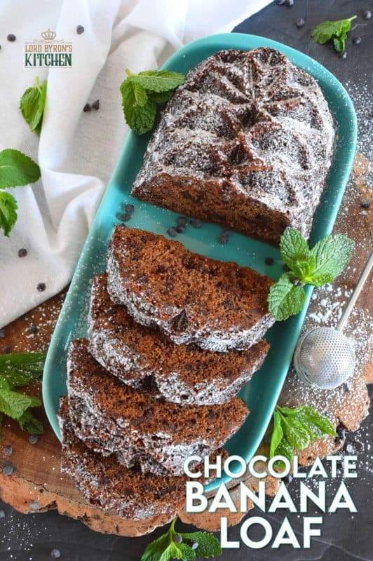 Loaded with milk chocolate chips, this Chocolate Banana Loaf is the most moist and delicious loaf ever! Prepared with only a bowl and a spatula; no sifting or adding ingredients one at a time. Dump everything in a bowl, stir to combine, and bake! #bananabread #loaf #bananachocolate #chocolate #chocolatechip