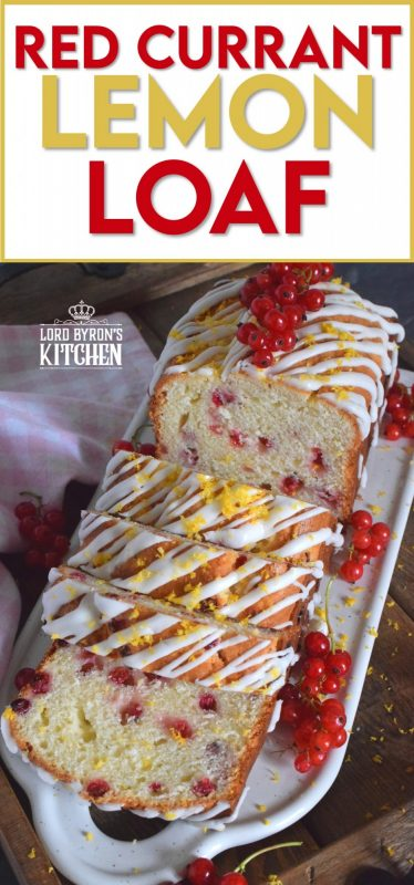 Moist and delicious, lemony and refreshing, packed with berries, and drizzled with a sweet glaze, Red Currant Lemon Loaf is a perfect dessert, or a lovely addition to your afternoon tea. This is a summertime brunch item that doubles as an evening after dinner dessert. #glazed #lemon #loaf #berries #red #currants #zest