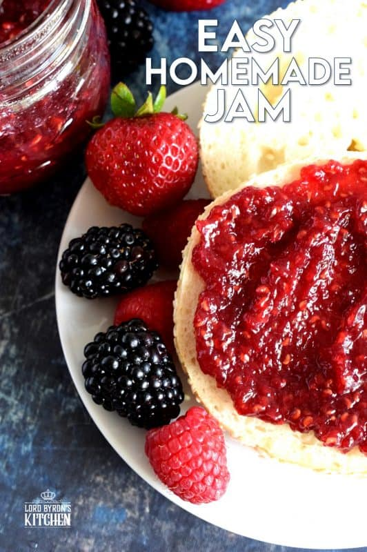 Preparing jam in small batches is the best way to go, and if you feel the same way, then my Easy Homemade Jam recipe is for you! All you need are three ingredients, a little patience, and a craving for delicious homemade jam! With jam this easy, you can stock your pantry all year round! #homemade #jam #small #batch #canning #easy