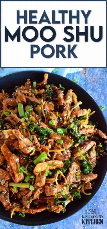 Thinly sliced pork loin chops, stir fried with egg, cabbage, and kale, and tossed in a thick, savoury sauce; Healthy Moo Shu Pork is not only delicious, but is also budget and family friendly! #mooshu #mooshupork #pork #porkchops #asianrecipes #stirfry